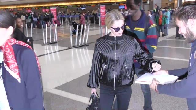 Annabelle Wallis departing at LAX Airport in Los Angeles in Celebrity Sightings in Los Angeles