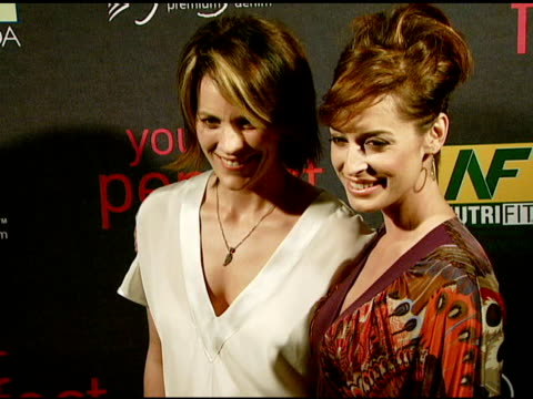 Annabeth Gish and Ashley Borden at the Paige Denim Book Launch at Paige Premium Denim Boutique in West Hollywood California on February 28 2008