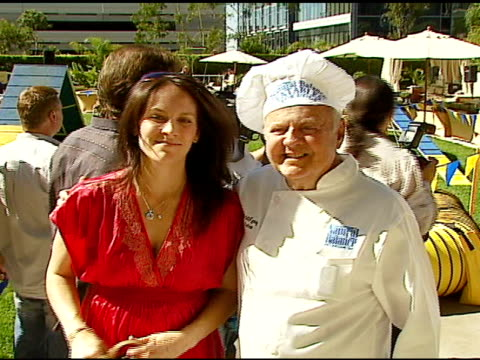 Annabeth Gish and Dick Van Patten at the Dine With Your Dog Day at the Hyatt Regency Century Plaza in Century City California on October 19 2006