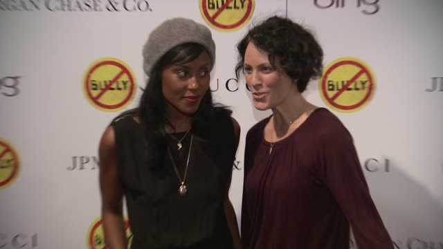 Annabeth Gish and guest at 'Bully' New York Screening on 3/20/2012 in New York NY United States