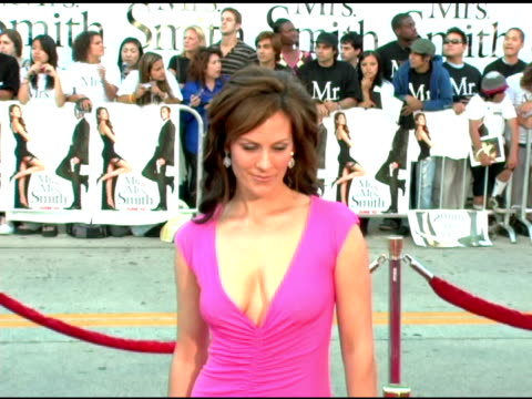 Annabeth Gish at the 'Mr and Mrs Smith' World Premiere at the Mann Village Theatre in Westwood California on June 7 2005