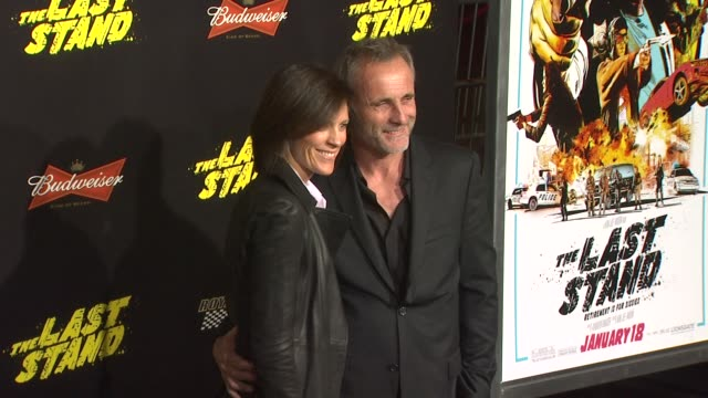 Annabeth Gish Timothy V Murphy at The Last Stand Los Angeles Premiere 1/14/2013 in Hollywood CA