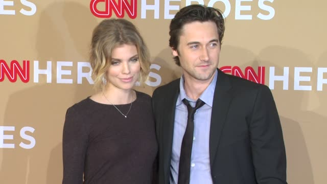 AnnaLynne McCord and Ryan Eggold at the CNN Heroes An AllStar Tribute at Los Angeles CA