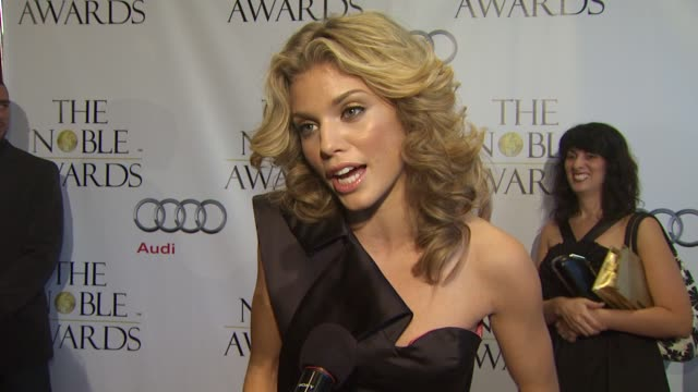 Annalynne McCord on being honored the charity she works with at the Noble Awards at Beverly Hills CA