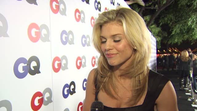 AnnaLynne McCord on coming out for the handsome men being excited that Tom Brady was honored and who her man of the year is at the GQ Magazine's 2009...