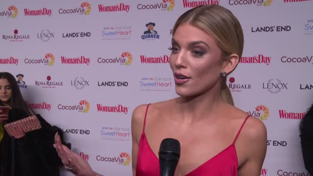 INTERVIEW AnnaLynne McCord on how this event supports women's empowerment at Woman's Day Celebrates 15th Annual Red Dress Awards at Jazz at Lincoln...