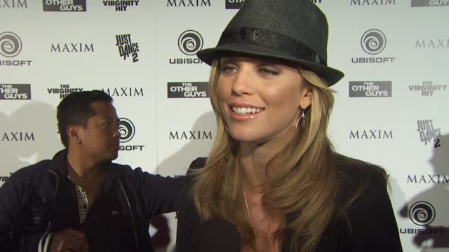 Annalynne McCord on what brings her out to the Maxim party at the Maxim Ubisoft And Sony Pictures Celebrate The Cast Of 'The Other Guys' at San Diego...