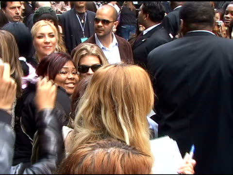 AnnaLynne McCord poses with fans as she departs the CW Upfronts in New York 05/19/11