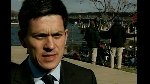 Middle East peace summit David Miliband MP interview SOT talks of ongoing engagement from Bush Rice final decisions having to be taken by leaders of...