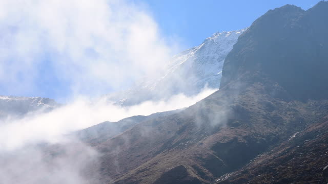 Annapurna mountain and clouds