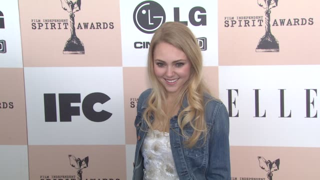 annasophia robb at the 2011 independent spirit awards - arrivals at santa monica ca. - independent feature project stock videos & royalty-free footage
