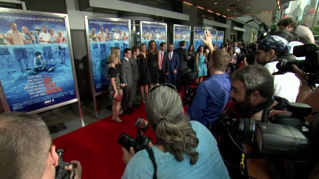 """annasophia robb, zoe levin, liam james, toni collette, jim rash at """"the way, way back """" new york premiere on june 26, 2013 in amc loews lincoln... - toni collette stock videos & royalty-free footage"""