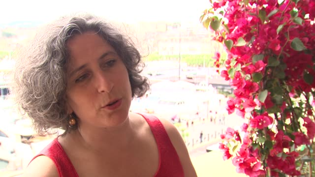 anne aghion on developing a rapport with the people of rwanda at the cannes film festival 2009: my neighbour, my killer interview at cannes . - film festival stock videos & royalty-free footage