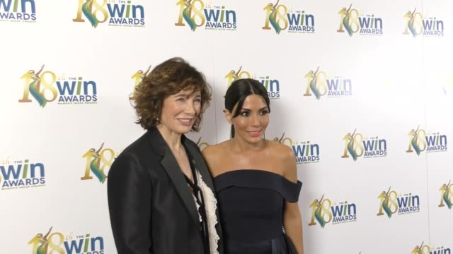 anne archer and marisol nichols at the 18th annual women's image awards at skirball cultural center on february 17, 2017 in los angeles, california. - anne archer video stock e b–roll