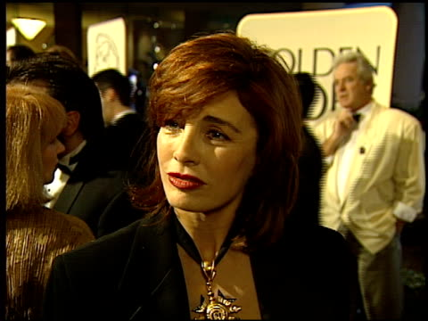 anne archer at the 1994 golden globe awards at the beverly hilton in beverly hills, california on january 22, 1994. - anne archer video stock e b–roll