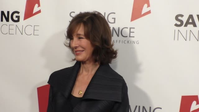 anne archer at the 4th annual saving innocence gala at sls hotel in beverly hills at celebrity sightings in los angeles on october 17, 2015 in los... - anne archer video stock e b–roll