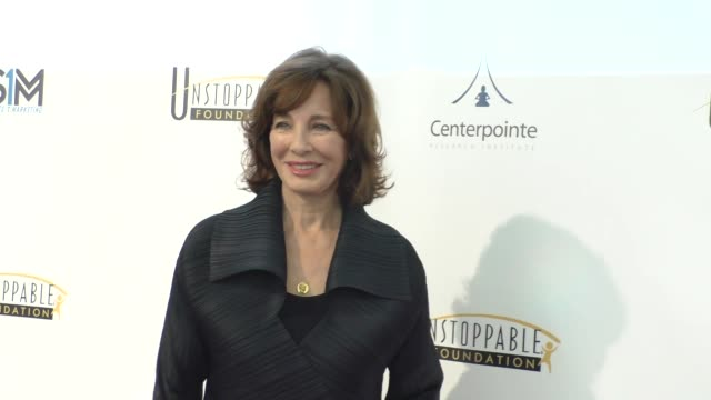 anne archer at the 7th annual unstoppable foundation gala at the jw marriott los angeles l.a. live at celebrity sightings in los angeles on march 19,... - anne archer video stock e b–roll