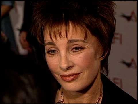 anne archer at the afi celebration honoring harrison ford at the beverly hilton in beverly hills, california on february 17, 2000. - anne archer video stock e b–roll