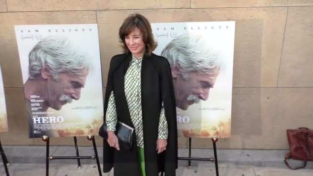 anne archer at the premiere of the orchard's 'the hero' - arrivals on june 05, 2017 in hollywood, california. - anne archer video stock e b–roll