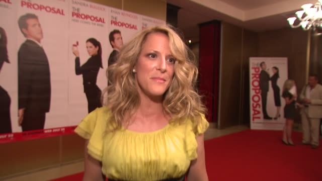 anne fletcher on her different experiences in film making the us box office at the the proposal premiere at london england - media interview stock videos and b-roll footage