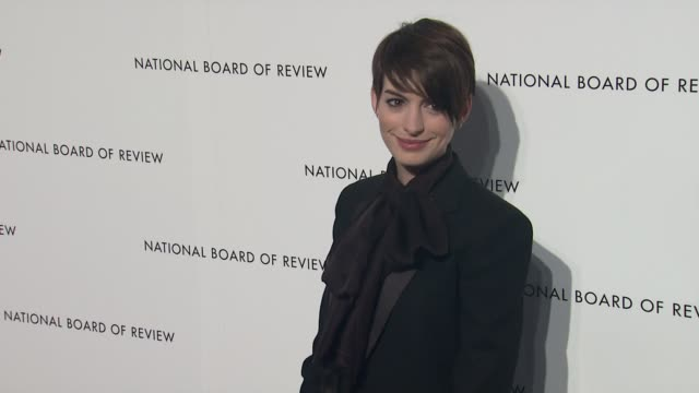Anne Hathaway 2013 National Board Of Review Awards Gala Arrivals at Cipriani Wall Street on January 08 2013 in New York New York