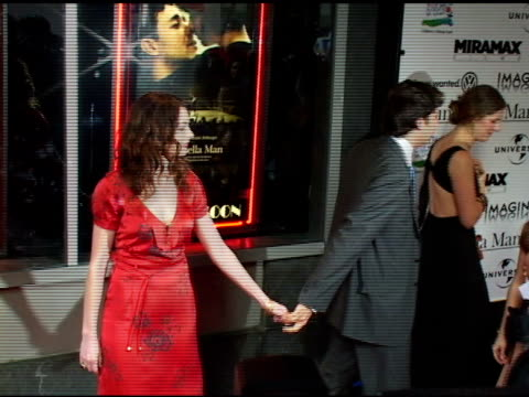 Anne Hathaway and guest at the 'Cinderella Man' New York Premiere Arrivals at the Loews Lincoln Square Theater in New York New York on June 1 2005