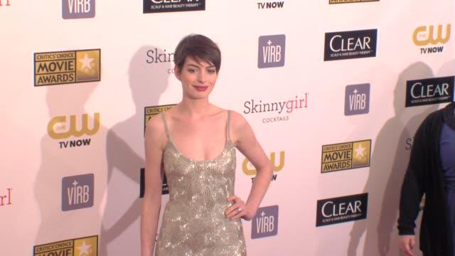 Anne Hathaway at 18th Annual Critics' Choice Movie Awards 1/10/2013 in Santa Monica CA