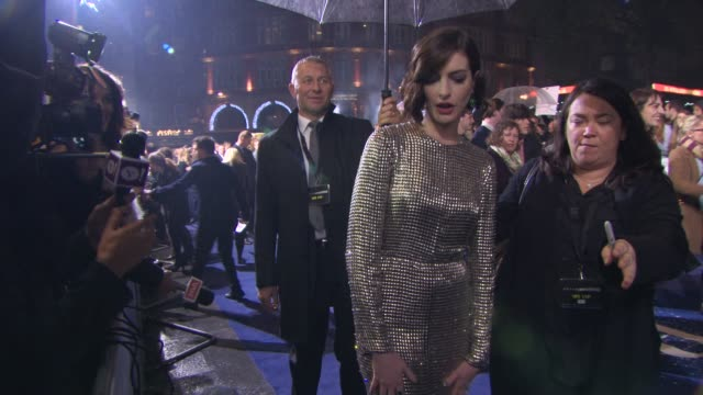Anne Hathaway at 'Insterstellar' UK Premiere at Odeon Leicester Square on October 29 2014 in London England