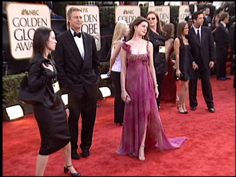 Anne Hathaway at the 2003 Golden Globe Awards at the Beverly Hilton in Beverly Hills California on January 19 2003