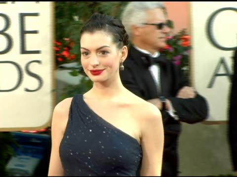 Anne Hathaway at the 2006 Golden Globe Awards Arrivals at the Beverly Hilton in Beverly Hills California on January 16 2006