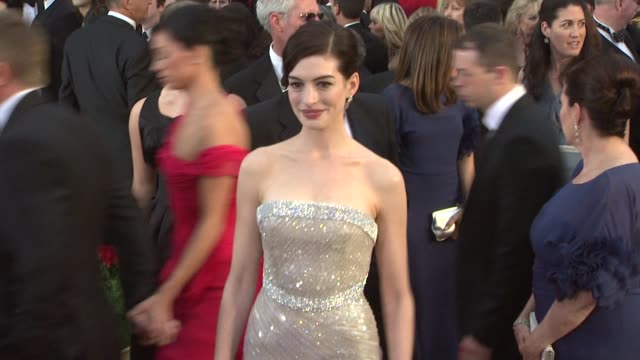 Anne Hathaway at the 81st Academy Awards Arrivals Part 3 at Los Angeles CA