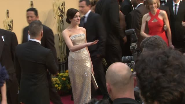 Anne Hathaway at the 81st Academy Awards Arrivals Part 6 at Los Angeles CA