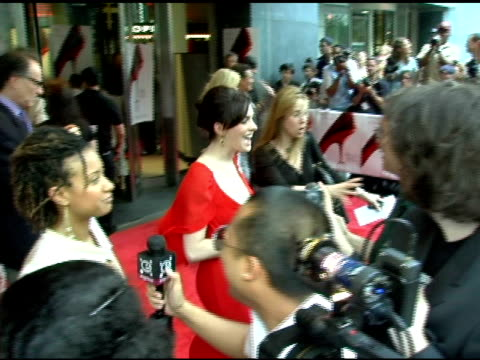 Anne Hathaway at the 'The Devil Wears Prada' New York Premiere at AMC Loews Lincoln Square in New York New York on June 19 2006