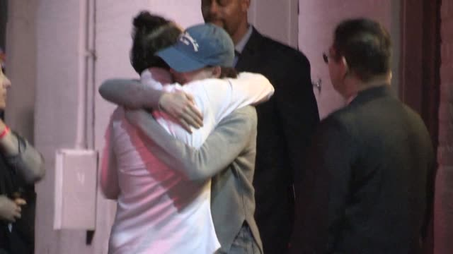 Anne Hathaway departing the Jimmy Kimmel Studio in Hollywood in Celebrity Sightings in Los Angeles