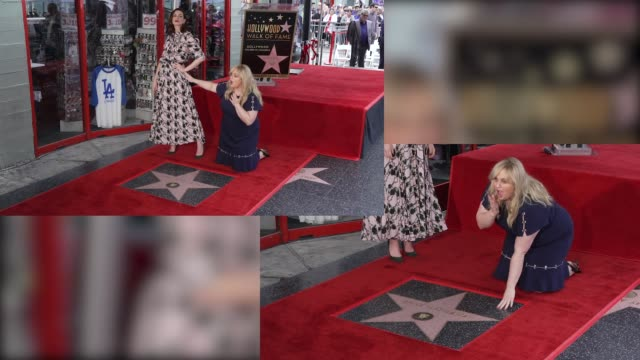Anne Hathaway Rebel Wilson at Anne Hathaway Honored with a Star on the Hollywood Walk of Fame