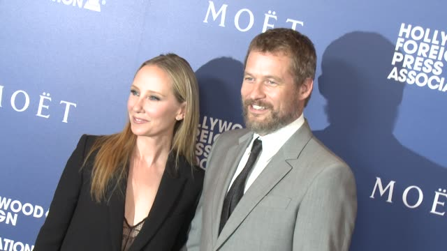 Anne Heche and James Tupper at the Hollywood Foreign Press Association's Grants Banquet at The Beverly Hilton Hotel on August 14 2014 in Beverly...