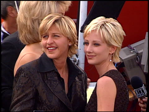 Anne Heche at the 1997 Emmy Awards Arrivals at the Pasadena Civic Auditorium in Pasadena California on September 14 1997
