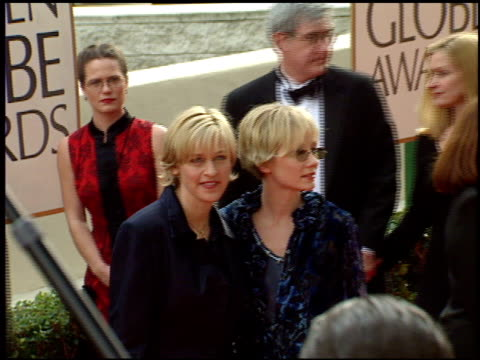 anne heche at the 1998 golden globe awards at the beverly hilton in beverly hills, california on january 18, 1998. - anne heche stock videos & royalty-free footage