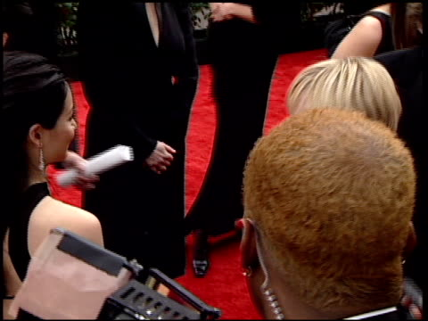 anne heche at the 2001 golden globe awards at the beverly hilton in beverly hills, california on january 21, 2001. - anne heche stock videos & royalty-free footage