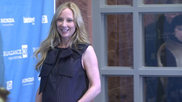 anne heche at the 2009 sundance film festival - 'spread' premiere at park city ut. - anne heche stock videos & royalty-free footage