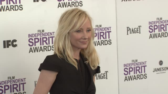 anne heche at the 2012 film independent spirit awards - arrivals on 2/25/12 in santa monica, ca. - independent feature project stock videos & royalty-free footage