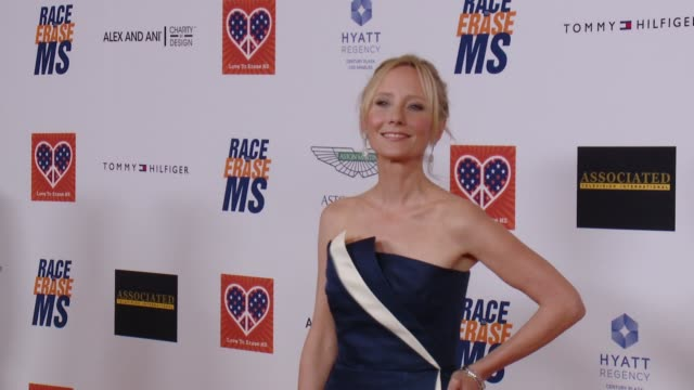 anne heche at the 22nd annual race to erase ms in los angeles ca - race to erase ms stock videos and b-roll footage