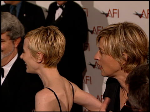 anne heche at the afi celebration honoring harrison ford at the beverly hilton in beverly hills, california on february 17, 2000. - anne heche stock videos & royalty-free footage