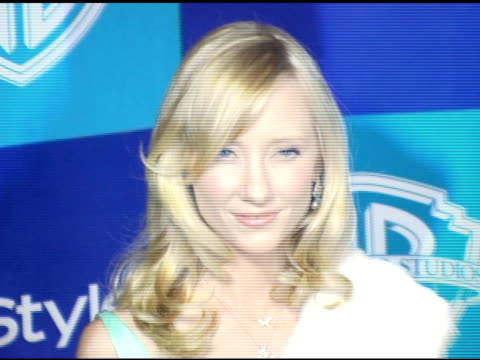 anne heche at the instyle/warner brothers golden globes party at the beverly hilton in beverly hills, california on january 16, 2006. - anne heche stock videos & royalty-free footage