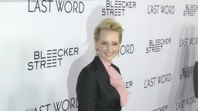 anne heche at the premiere of bleecker street media's 'the last word' - red carpet on march 01, 2017 in hollywood, california. - anne heche stock videos & royalty-free footage