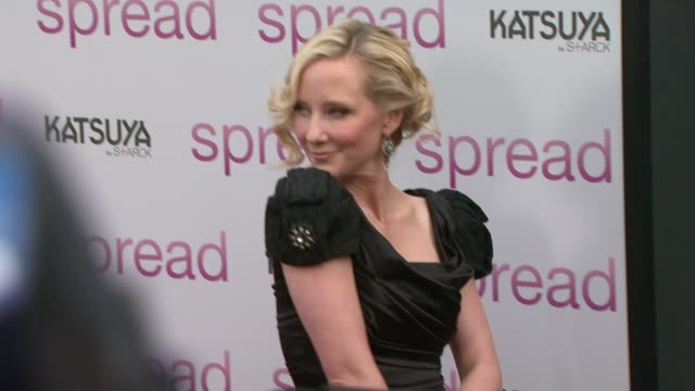 anne heche at the 'spread' premiere at hollywood ca. - anne heche stock videos & royalty-free footage