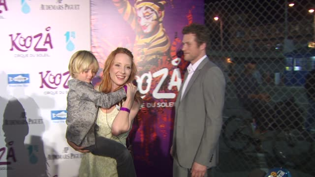 anne heche , guests at the kooza opening night gala to benefit the one drop foundation & heal the bay at santa monica ca. - anne heche stock videos & royalty-free footage