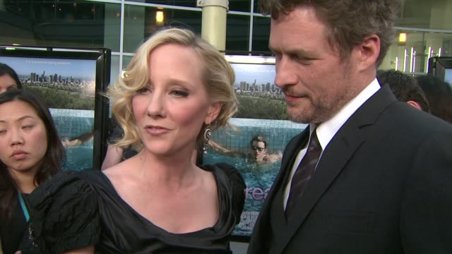 anne heche & james tupper on her role, what attracted her to the project, how she prepared for the racier scenes, what she thinks her character's... - anne heche stock videos & royalty-free footage