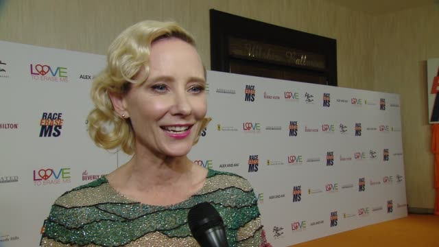 INTERVIEW Anne Heche on attending the event at the Race to Erase MS 25th Anniversary Gala at The Beverly Hilton Hotel on April 20 2018 in Beverly...
