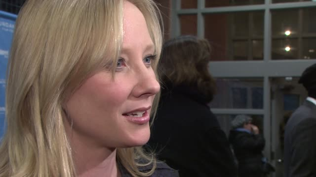 anne heche on the film, the obama administration and the effect on the economy and her industry at the 2009 sundance film festival - 'spread'... - anne heche stock videos & royalty-free footage